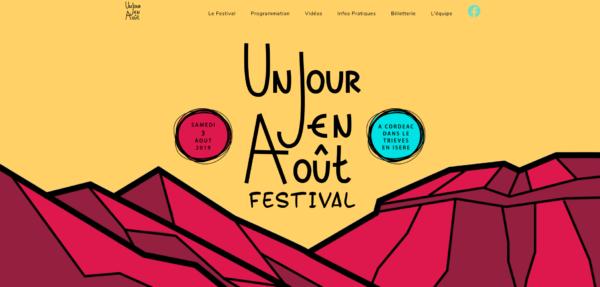 Site internet Un Jour en Aout